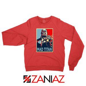 Mad Titan Supervillain Red Sweatshirt
