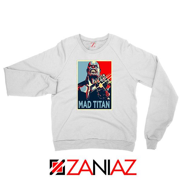 Mad Titan Supervillain White Sweatshirt
