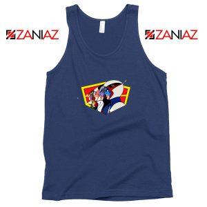 Ninja Team Gatchaman Anime Navy Blue Tank Top
