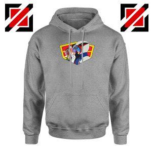 Ninja Team Gatchaman Anime Sport Grey Hoodie