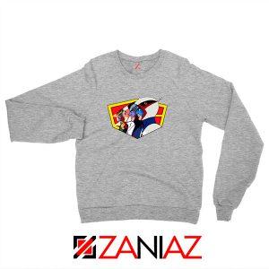 Ninja Team Gatchaman Anime Sport Grey Sweatshirt