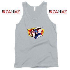 Ninja Team Gatchaman Anime Sport Grey Tank Top