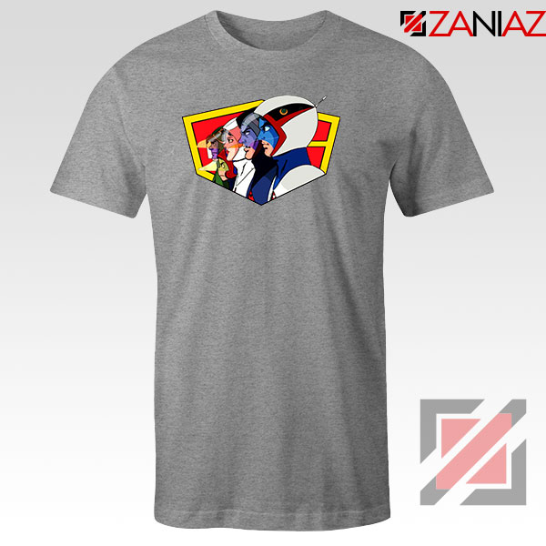 Ninja Team Gatchaman Anime Sport Grey Tshirt
