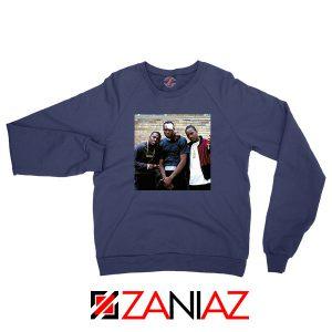 Paid in Full Dryfit Poly Navy Blue Sweatshirt