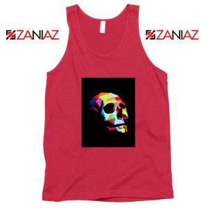 Skull Wpap Art 2021 Best Red Tank Top
