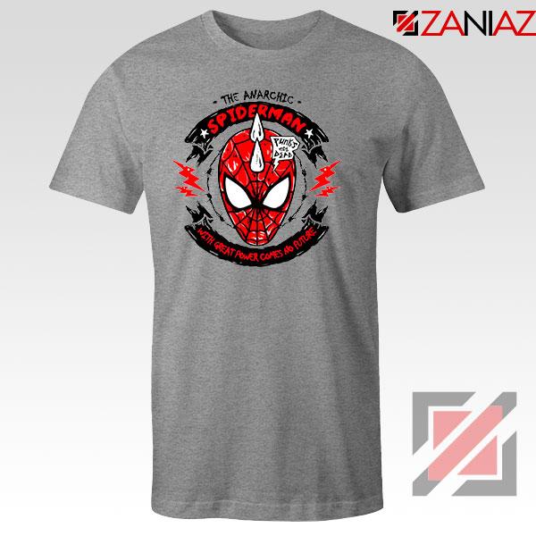 Spiderpunk Superhero Best Sport Grey Tshirt