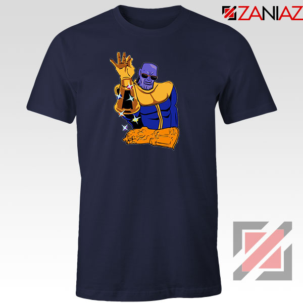 Thanos Infinity Bae Best Navy Blue Tshirt