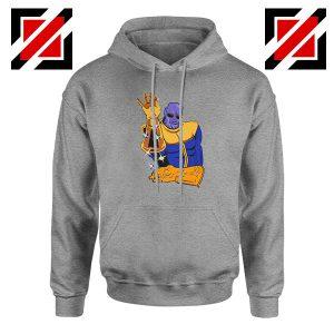 Thanos Infinity Salt Bae Cheap Sport Grey Hoodie