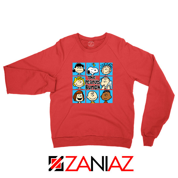 The Peanuts Bunch 2021 Red Sweatshirt