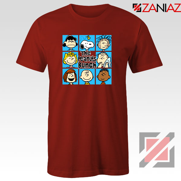 The Peanuts Bunch 2021 Red Tshirt