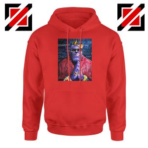Thug Life Thanos Best Red Hoodie