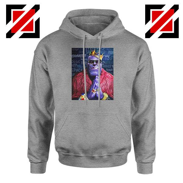 Thug Life Thanos Best Sport Grey Hoodie