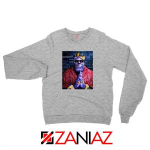 Thug Life Thanos Best Sport Grey Sweatshirt