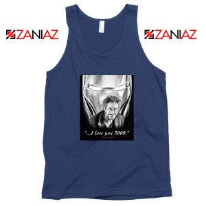 Tony Stark Love You 3000 Navy Blue Tank Top