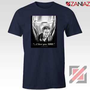 Tony Stark Love You 3000 Navy Blue Tshirt