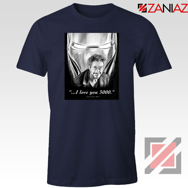 Tony Stark Love You 3000 Navy Blue Tshirt