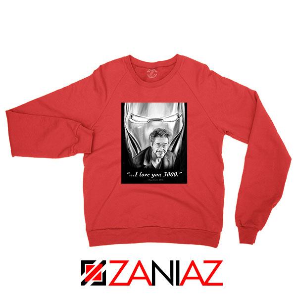 Tony Stark Love You 3000 Red Sweatshirt