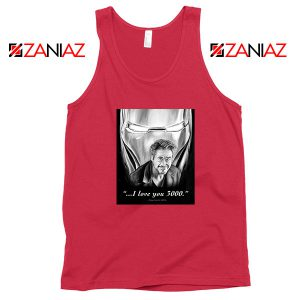 Tony Stark Love You 3000 Red Tank Top
