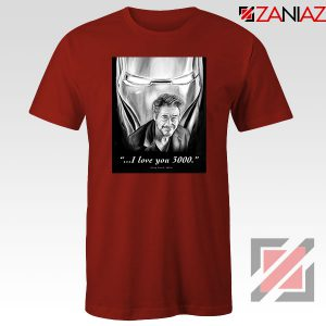 Tony Stark Love You 3000 Red Tshirt
