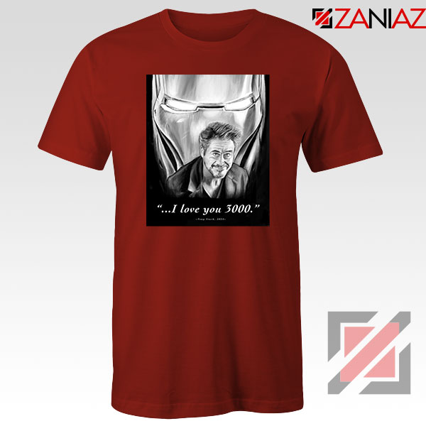 Tony Stark Love You 3000 Red Tshirt
