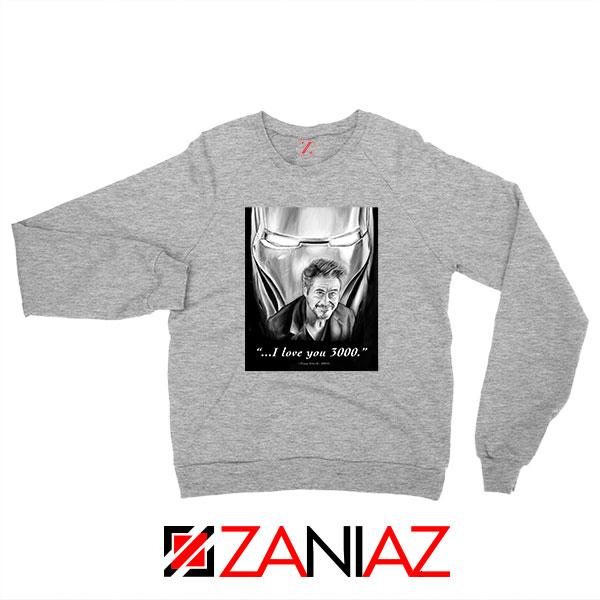 Tony Stark Love You 3000 Sport Grey Sweatshirt