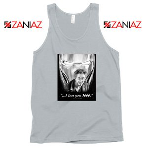 Tony Stark Love You 3000 Sport Grey Tank Top