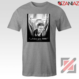 Tony Stark Love You 3000 Sport Grey Tshirt