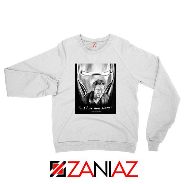 Tony Stark Love You 3000 Sweatshirt