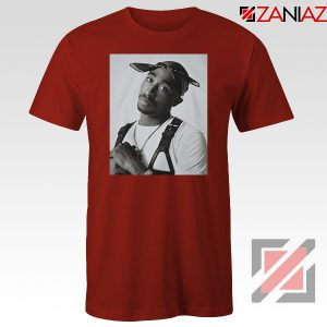 Tupac Black Bandana 2021 Red Tshirt