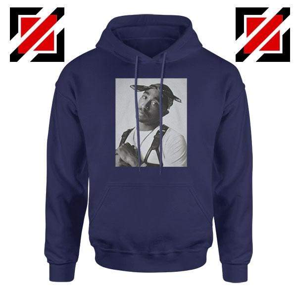 Tupac Black Bandana Best Navy Blue Hoodie