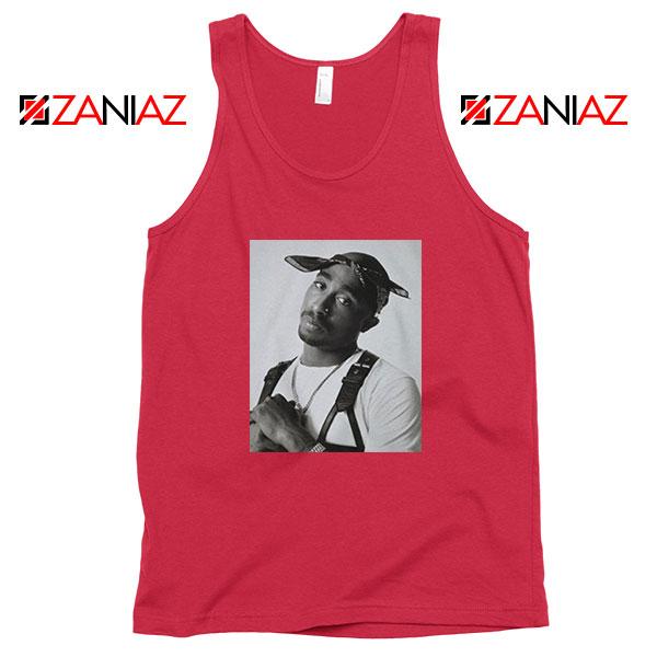 Tupac Black Bandana Best Red Tank Top