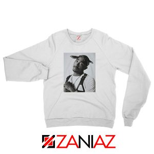 Tupac Black Bandana Best White Sweatshirt