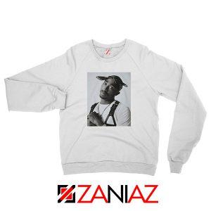 Tupac Black Bandana Best White Sweatshirt