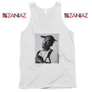 Tupac Black Bandana Best White Tank Top