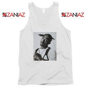 Tupac Black Bandana Best White Tank Top