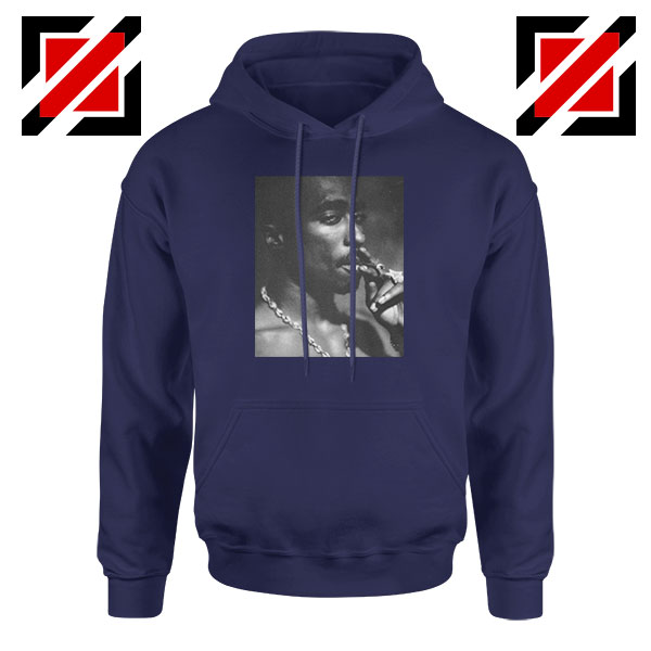Tupac Shakur Smoke Best Navy Blue Hoodie
