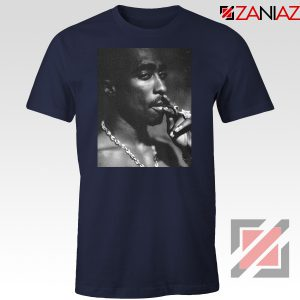 Tupac Shakur Smoke Best Navy Blue Tshirt