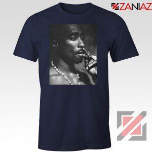 Tupac Shakur Smoke Best Navy Blue Tshirt