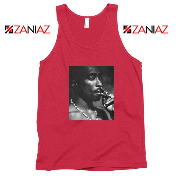 Tupac Shakur Smoke Best Red Tank Top