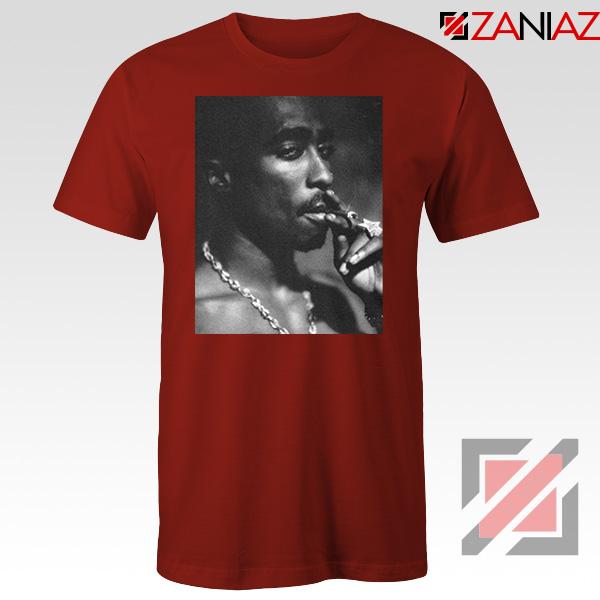 Tupac Shakur Smoke Best Red Tshirt