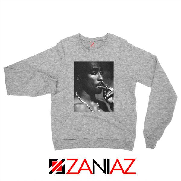 Tupac Shakur Smoke Best Sport Grey Sweatshirt