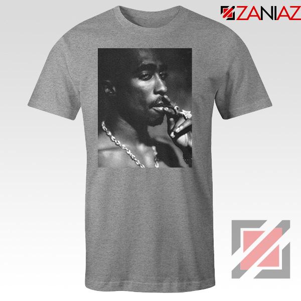 Tupac Shakur Smoke Best Sport Grey Tshirt
