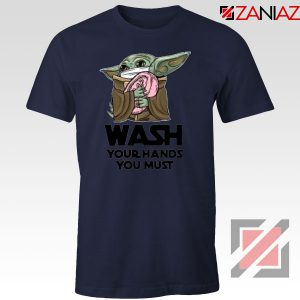 Baby Yoda Covid 19 Quotes Best Navy Blue Tshirt
