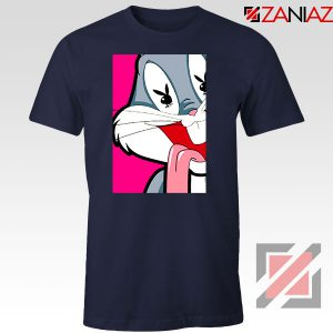 Bugs Bunny Cartoon Playboy Love Navy Blue Tshirt