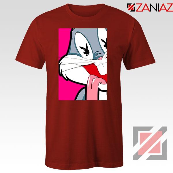 Bugs Bunny Cartoon Playboy Love Red Tshirt