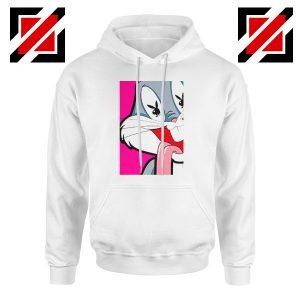 Bugs Bunny Playboy Love White Hoodie