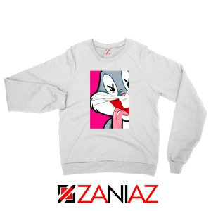 Bugs Bunny Playboy Love White Sweatshirt