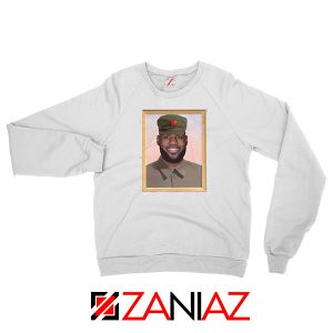 China King Lebron James New White Sweatshirt