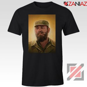 Fidel Castro Politician Cheap Black Tshirt
