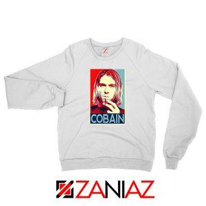 Kurt Cobain Legend Singer Nice White Sweatshirt